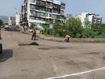 पंतप्रधान मोदी येती घरा, रस्त्यावरचे खड्डे विसरा; खारघरमधील रस्ते झाले चकाचक