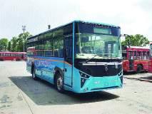 एनएमएमटीच्या ताफ्यातपहिली इलेक्ट्रिक बस दाखल