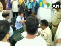 Video : नितेश राणेंचा पोलीस ठाण्यात गोंधळ, मला अटक केली तर...