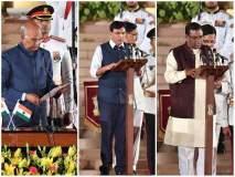 मंत्रीपदाची शपथ घेताना 'हे' दोन मंत्री चुकले; राष्ट्रपतींनी टोकल्यानंतर सुधारली चूक