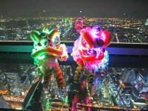चीनमध्ये नववर्षाचा झगमगाट; लाल रंगात रंगला देश