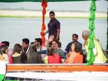 विद्यार्थीनी खुश, प्रियंका गांधीसोबत बोटीची सफर