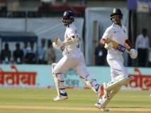 India Vs Bangladesh Live Score, 1st Test 2nd Day: लंच टाईम; रहाणे-मयांकची तुफान फटकेबाजी