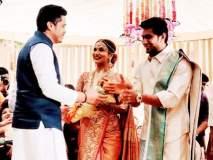 शरद पवारांचा नातू फॉर्मात; 'रजनी'कन्येच्या लग्नात रोहितचा वेगळाच थाट