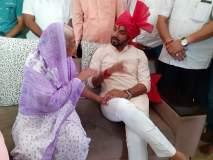 माझ्या मुलाएवढा मोठ्ठा हो, राजू शेट्टींच्या आईने दिले धैर्यशील माने यांना आशिर्वाद