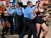 WWE Raw च्या महिला खेळाडूंना अटक; पोलिसांच्या गाडीतही हाणामारी, Video