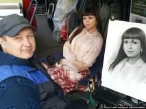 रशियन स्ट्रीट कलाकाराची जादूगिरी; फोटोरॅलिस्टिक लाइव्ह पोर्ट्रेट पाहून तुम्हीही व्हाल अचंबित