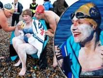 जिगरबाज! वर्षभरापूर्वी कॅन्सरवर मात करणाऱ्या महिलेने सलग 54 तास पोहून केला वर्ल्ड रेकॉर्ड