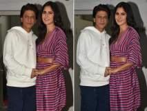 कॅटरिना कैफसोबत या अंदाजात दिसला 'झिरो'चा हिरो शाहरुख खान!!