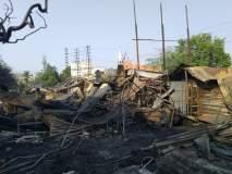 सोलापूरमध्ये फर्निचरच्या दुकानाला भीषण आग