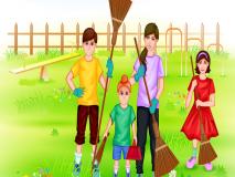 गांधी जयंतीनिमित्त साफसफाई मोहीम, विद्यार्थी पालकासह सर्वसामान्यांंचां सहभाग