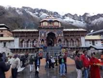 अद्भूत नजारा! केदारनाथ, बद्रीनाथ डोंगरावर पसरली बर्फाची चादर; पाहा फोटो