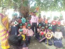 वृक्ष रक्षाबंधन: विद्यार्थ्यांनी झाडांना राख्या बांधून दिला पर्यावरण रक्षणाचा संदेश