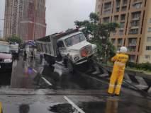 लालबाग फ्लायओव्हरवर ट्रकचा झाला अपघात; वाहतूक सुरळीत