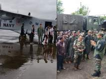 कोल्हापूर पूर: पुरग्रस्तांच्या मदतीसाठी भारतीय लष्कर आणि नौसेना सांगली, कोल्हापुरात दाखल