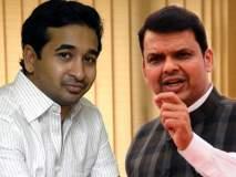Maharashtra Election 2019 : आक्रमक नितेश राणेंना आमच्या शाळेत संयम शिकवू; मुख्यमंत्र्यांकडून भाजपामध्ये 'स्वागत'