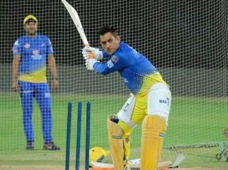 Dhoni creates maheym in the nets, as he takes bowlers to the cleaners | Latest Cricket Photos at english.lokmat.com
