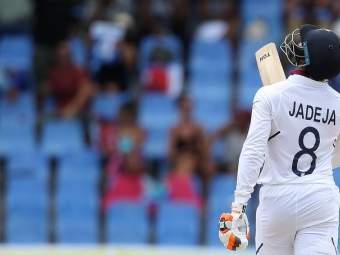 India vs West Indies, 1st Test : रहाणेपाठोपाठ जडेजाचे अर्धशतक; भारत सर्व बाद 297