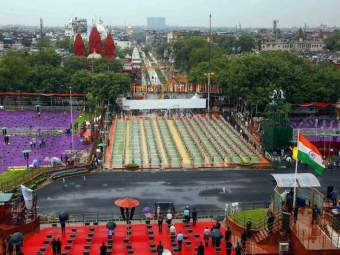 Independence Day: लाल किल्ल्यावर विशेष व्यवस्था;स्वातंत्र्य दिन सोहळ्याचे४००० लोकांना निमंत्रण - Marathi News | Independence Day Special arrangements at Red Fort 4000 people invited | Latest national News at Lokmat.com