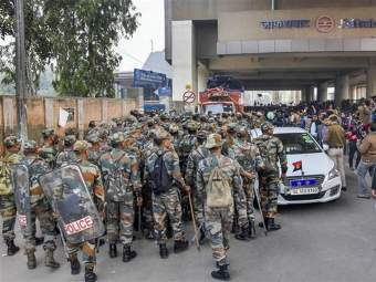 ट्रम्प यांच्या दौऱ्याच्या पार्श्वभूमीवर दिल्लीत अभूतपूर्व सुरक्षा व्यवस्था