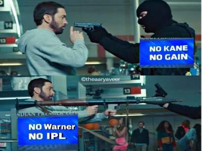 IPL 2021 Suspended : डेव्हिड वॉर्नरचा तळतळाट लागला अन् लीग करावी लागली स्थगित, पाहा भन्नाट मीम्स - Marathi News | IPL 2021 Suspended : No David Warner, No IPL; memes goes viral after ipl 2021 suspended | Latest cricket Photos at Lokmat.com