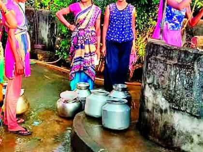 Muddy water supply in Delanwadi village   देलनवाडी गावात गढूळ पाणीपुरवठा