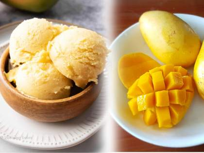 Are you vegan, Want to eat mango ice cream? Then try this recipe with no milk and sugar!   वेगन डाएट करताय?; मँगो आईस्क्रीम खावंसं वाटतंय?... मग, दूध-साखरेविना आईस्क्रीमची ही रेसिपी नक्की ट्राय करा!