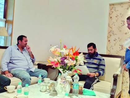 Udayan Raje Bhosale meet Eknath Shinde in satara | राजधानीसाठी 'राजे' मैदानात! शिलेदारांनी झटकली मरगळ, विकासकामांसाठी नगरविकास मंत्र्यांची भेट