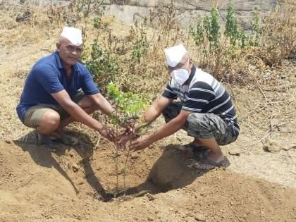Planting of 71 neem trees up to mother's age | आईच्या वयाइतके ७१ कडूलिंब वृक्षांचे रोपण
