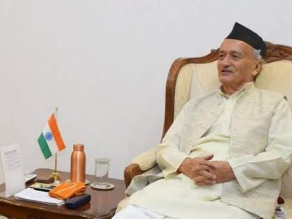 Shiv Sena wishes happy birthday to Governor Bhagatsing koshayari in Pune too; Demand for 'return gift'   पुण्यात शिवसेनेकडून राज्यपालांना वाढदिवसाच्या 'हटके' शुभेच्छा; 'रिटर्न गिफ्ट'ची केली मागणी