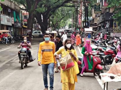 Rajarampuri market thrives again, transactions speed up: Demand for extension of time to shops: Ground Report   ग्राऊंड रिपोर्ट : राजारामपुरी व्यापारपेठ पुन्हा गजबजली, व्यवहारांची गती वाढली