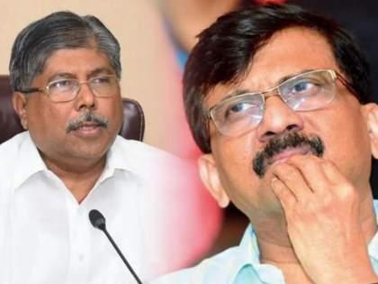 BJP leader Chandrakant Patil has taunt to Shiv Sena leader Sanjay Raut | 'त्यांचा वाघ पिंजऱ्यात आहे, हे आता संजय राऊत यांनीही मान्य केलं'; चंद्रकांत पाटलांचा टोला