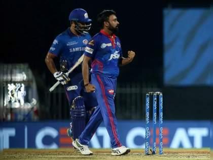 IPL 2021 MI vs DC Live T20 Score: Amit Mishra the game changer, gets Rohit, Hardik, Pollard; MI lost 5 wickets in 17 runs | IPL 2021, MI vs DC T20 Live : ( अमित) मिश्राजींनी कमाल केली, (रोहित) शर्माजींसह मुंबई इंडियन्सचे ५ फलंदाज १७ धावांत फिरले माघारी!