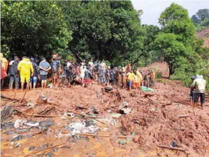 Raigad Landslides: Where do we go when the family is buried ? Taliye Villagers rise question | Raigad Landslides: कुटुंब गाडले गेल्यावर आम्ही जायचे कुठे?;किंकाळ्या, आक्रोश एका क्षणात स्तब्ध झाला