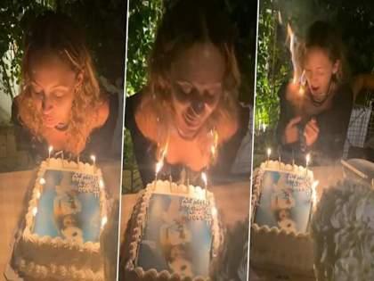 Actress And Tv Personality Nicole Richie Hair Caught Fire As She Cut Her 40th Birthday Cake Video Viral | वाढदिवसाचा केक कापायला गेली अन् केसांना आग लागली, हॉलिवूड अभिनेत्रीचा व्हिडीओ व्हायरल