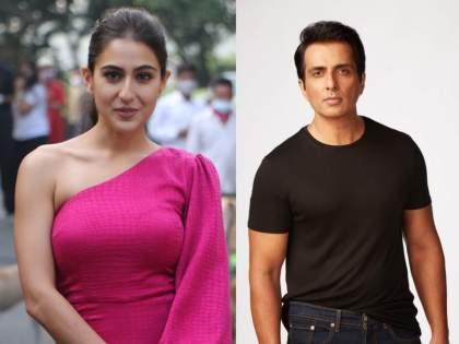Sara Ali Khan donates to Sonu Sood Foundation for Covid-19 relief, actor calls her a 'hero' | कोरोनाच्या संकटात मदतीसाठी पुढे सरसावली सारा अली खान, सोनू सूदने केली प्रशंसा