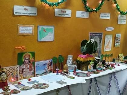 """From Chaitra to Falgun ... """"Marathmolya"""" festival-tradition in dombivali   चैत्र ते फाल्गून... आजीबाईंच्या आरासमध्ये अवतरला """"मराठमोळ्या"""" सण-परंपरांचा थाट"""