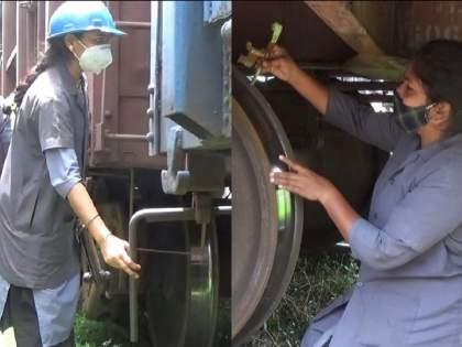 Inspection of freight train by women's team, first time responsibility in kalyan   महिला टीमकडून मालवाहतूक ट्रेनचे परीक्षण, पहिल्यांदाच पेलली जबाबदारी