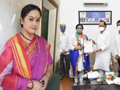 Actress Surekha Kudchi's entry into NCP welcome by ajit pawar is an important responsibility given by the party | अभिनेत्री सुरेखा कुडचींचा राष्ट्रवादीत प्रवेश, पक्षाने दिली महत्त्वाची जबाबदारी