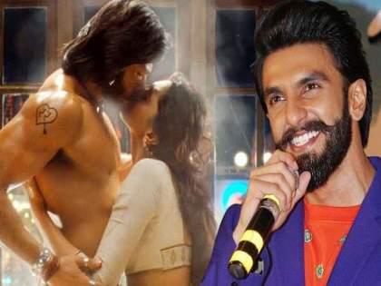 Bollywood deepika padukone Ranveer Singh did not stop kissing each other, even after the director said cut   डायरेक्टरने कट म्हटल्यानंतरही किस करतच होते दीपिका अन् रणवीर सिंह; सेटवर अशी होती लोकांची रिअॅक्शन