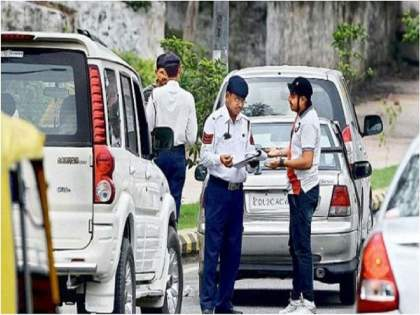New Traffic Rules: Take a car and go out, check the PUC, otherwise you have pay fine of 10-thousand   New Traffic Rules: गाडी घेऊन बाहेर जाताय, PUC चेक करा अन्यथा खिशाला बसणार मोठा भूर्दंड