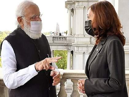 Pakistan should take action against terrorists; Issue raised by US Vice President Kamala Harris; Discussion with Modi   पाकिस्तानने दहशतवाद्यांवर कारवाई करावी; US उपाध्यक्षा कमला हॅरिस यांनी उपस्थित केला मुद्दा; मोदींसोबत चर्चा