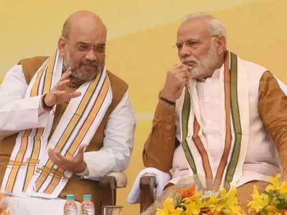 Amit Shah reached Modi's house before the meeting with Kashmiri leaders | सरकार मोठा निर्णय घेण्याच्या तयारीत? काश्मिरी नेत्यांसोबतच्या बैठकीपूर्वी मोदींच्या घरी पोहोचले अमित शाह