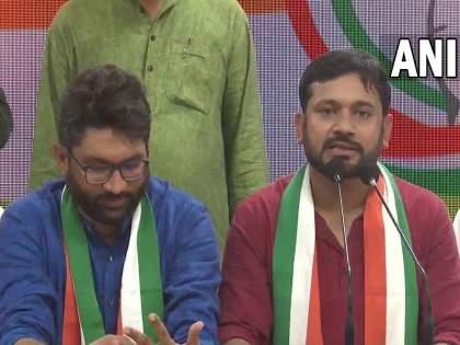Kanhaiya Kumar, Jignesh Mevani explained the reason for joining the Congress | 'काँग्रेस वाचली नाही, तर देशही वाचणार नाही'; कन्हैया, जिग्नेश यांनी सांगितलं काँग्रेसमध्ये सामील होण्याचं कारण
