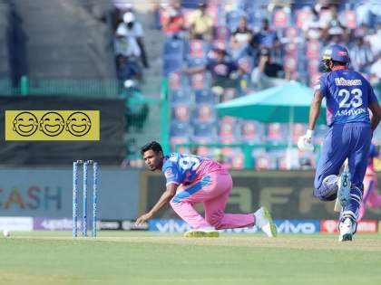 IPL 2021, DC vs RR : Complete Comedy of Errors there, Not only did Ashwin not survive a run-out he even picked up an extra run, Video | IPL 2021, DC vs RR : दिल्ली-राजस्थान सामन्यात घडली कॉमेडी; सर्व पब्लिक हसू लागली, Video