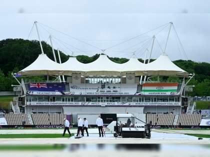 WTC final 2021 Ind vs NZ Test : Unfortunately, World Test Championship final play on Day 1 has been called off due to rains   WTC Final 2021 IND vs NZ : पहिल्या दिवसाचा खेळ रद्द, पावसानं लावली वाट; राखीव दिवसापर्यंत चालणार सामना