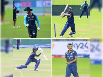 India vs SL 2nd T20I live : Devdutt Padikkal, Ruturaj Gaikwad, Nitish Rana and Chetan Sakariya making their T20I debut for India   IND Vs SL 2nd T20I Live : ९ खेळाडू गमावले तरी टीम इंडिया खचली नाही, चार पदार्पणवीरांसह उतरली मैदानावर!