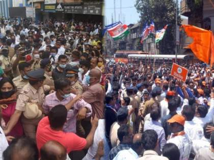 Shiv Sena-BJP workers clashed on Ram mandir issue, Remember Shivsena and MNS Rada at Dadar | शिवसेना-भाजपा कार्यकर्ते भिडले, तिथेच शिवसैनिक-मनसैनिकांमध्ये झाला होता 'राडा'...अजूनही जखमा ताज्या