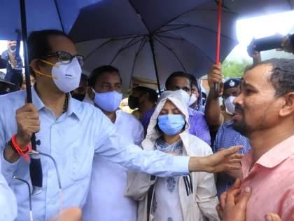 Raigad Landslide: we take care of everything else! CM Uddhav Thackeray consolation to victim | Raigad Landslide:तुम्ही दु:खातून सावरा, बाकीची सर्व काळजी आम्ही घेतो! मुख्यमंत्र्यांचा तळीयेकरांना दिलासा