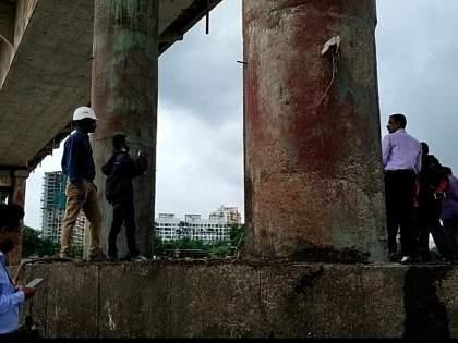 there is crack to gandhari bridge officers checked still closed for vehicles   'तडा' नाही, हा तर 'काळा कपडा'; गांधारी पुलाची अधिकाऱ्यांकडूनपाहणी